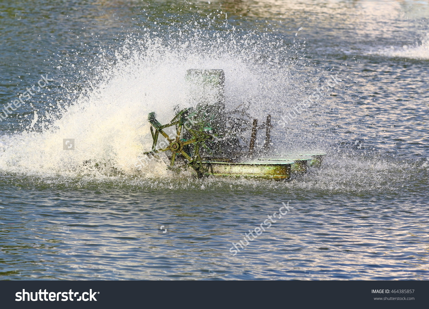 Stock photo motor oxygen in water 464385857